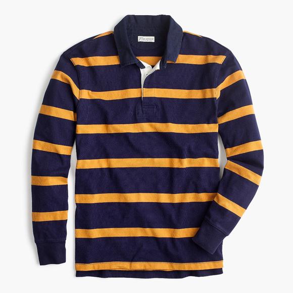 f688040d2b7 J. Crew Shirts | Nwt J Crew Thin Strip Rugby Shirt | Poshmark